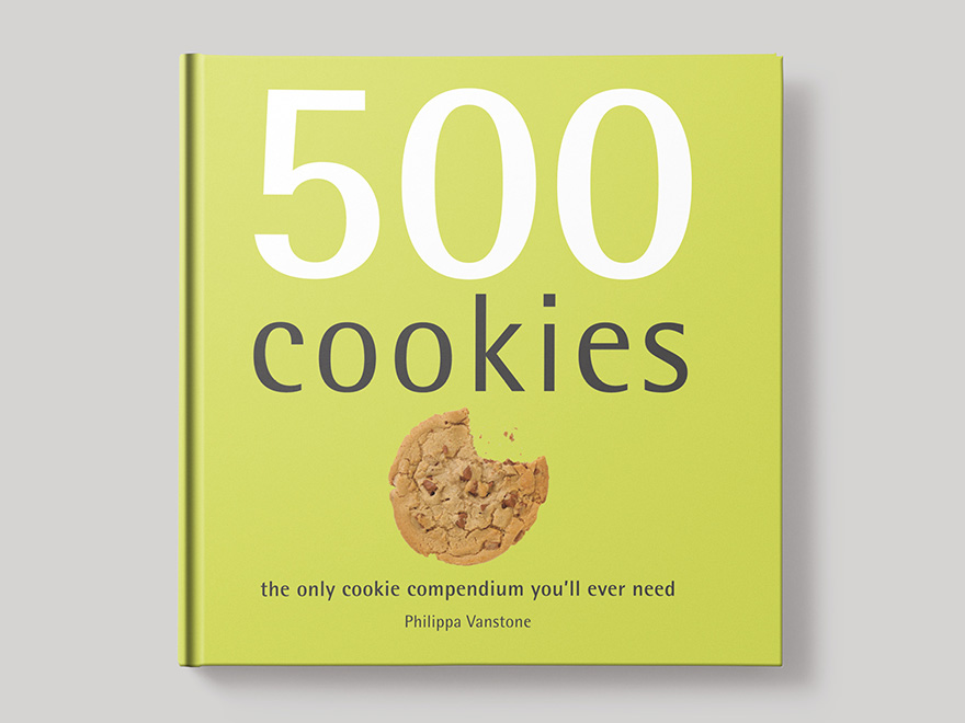 Book cover to 500 Cookies recipe book