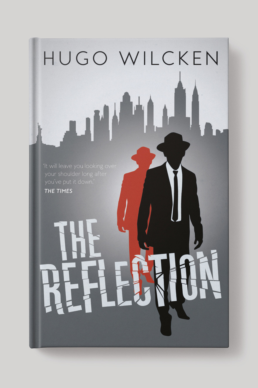 Front cover to The Reflection, showing two silhouettes against a New York skyline