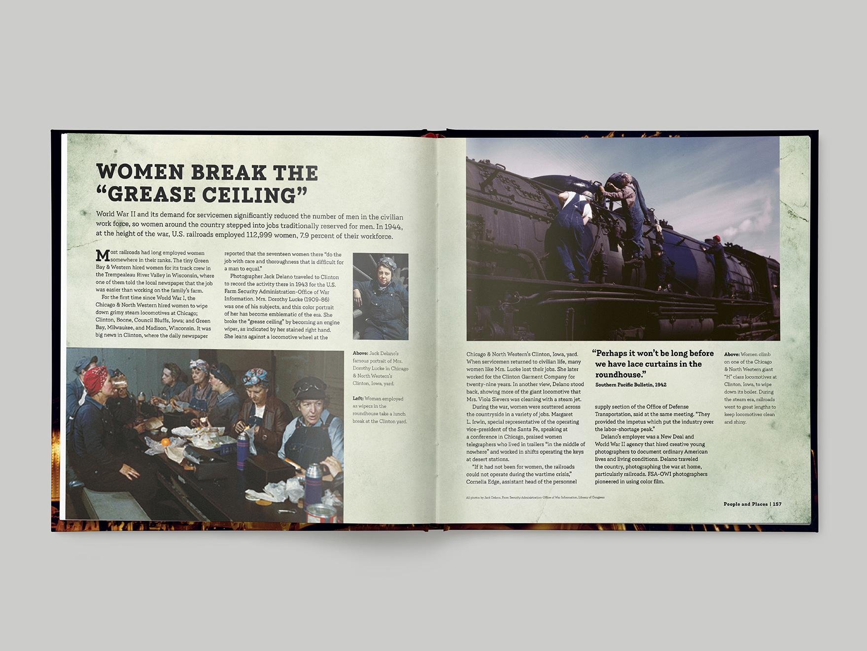 Inside pages from Classic Steam showing a two-page feature about female engineers